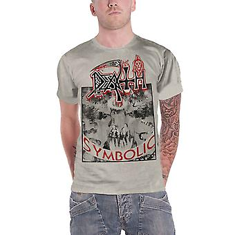 Death T Shirt Symbolic Band Logo new Official Mens Off White