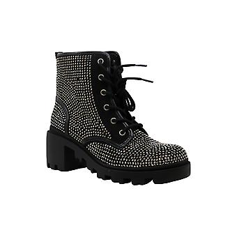 Madden Girl Womens Dymond Fabric Closed Toe Ankle Botas de moda