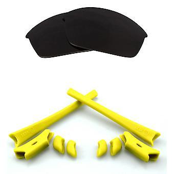 Polariserade ersättningslinser & Kit för Oakley Flak Jacket Svart & Gul Anti-Scratch Anti-Glare UV400 av SeekOptics
