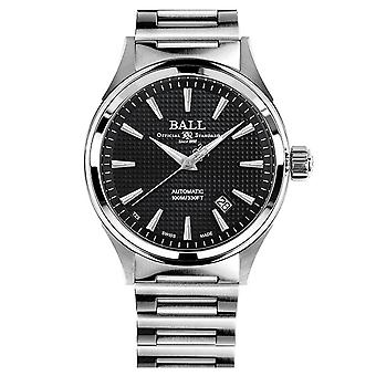 BALL Fireman Victory Automatic Black Dial Silver Stainless Steel Bracelet Men's Watch NM2098C-S5J-BE