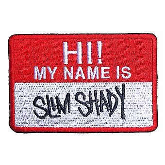 Eminem Patch Slim Shady Name Badge new Official Red