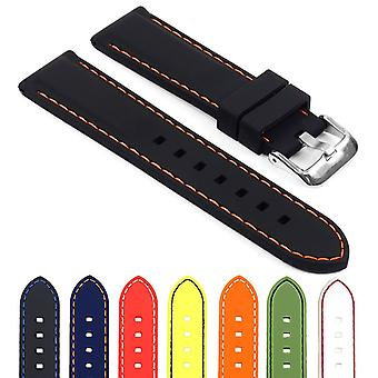 Strapsco rubber strap with stitching - quick release