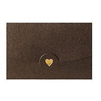 Pequeno envelope de cartão de nome de saudação, carimbo quente, papel perolado do amor mini