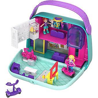Polly pocket gcj86 pocket world shopping mall compact play set, multi-colour mall purse