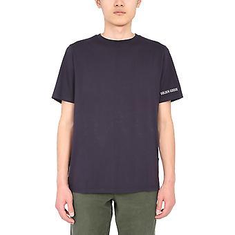 Golden Goose Gmp00461p00018750566 Men's camiseta de algodón negro