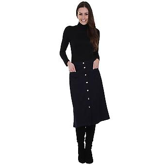 Button front midi skirt - size 6 & 8 only