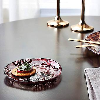 Velvet Gilded Glass Canape Plates