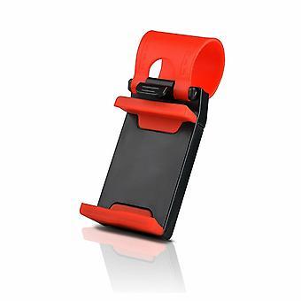 Auto Lenkrad Handyhalter für alle Handys rot