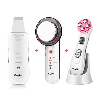 3 Em 1 massageador ultrassônico infravermelho ems facial body slim