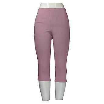 Belle de Kim Gravel Mujeres's Petite Jeans Hollywood Waist Crop Purple A374290