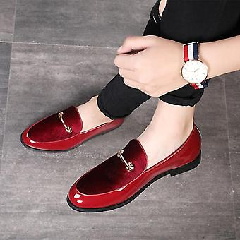 Men Loafers Patent Leather Oxford Mariage Wedding Shoes