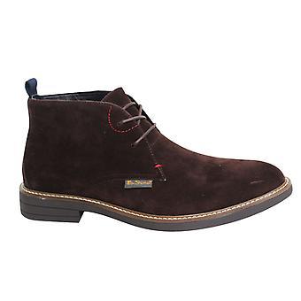 Ben Sherman Kington Lace Up Choc Suede Mens Chukka Boots BEN3163 016 B60