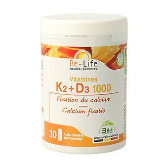 Vitamins K2 + D3 1000 30 capsules