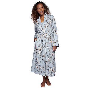 Cyberjammies Nora Rose Juliette 1499 Frauen's grau Floral Baumwolle Robe