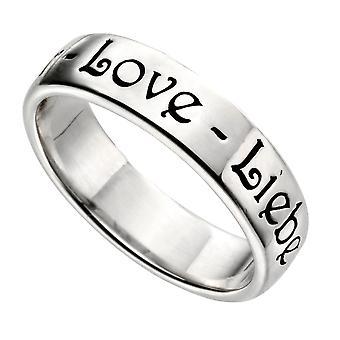 Elemente Silber Frauen 925 Sterling Silber Liebe Ring