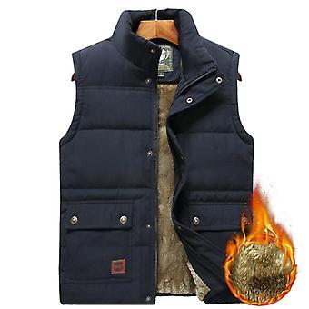 Men's Clothing, Winter Vest Jackets, Sleeveless Coat, Male Warm Waistcoat,