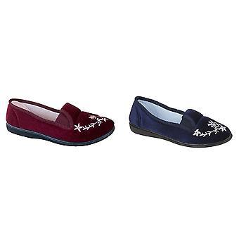 Zedzzz Womens/Ladies Gail Velour Slippers