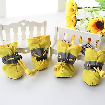 4 sapatos pcs pet dog à prova d'água Chihuahua Anti-slip Boots Puppy Cat Socks