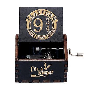 Puinen käsikradittu laatikko, joulupalloteema