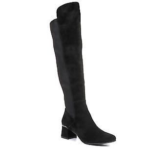 Regarde Le Ciel Womens Illary 02 Leather Over the Knee Boots