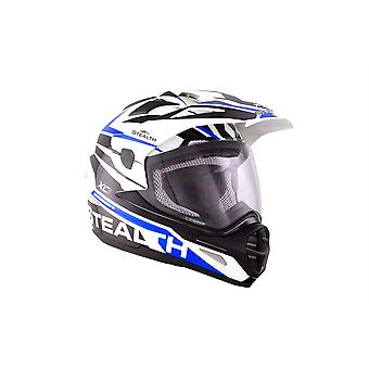 Stealth HD009 XC1 Adult Dual Sport Helmet - Blue