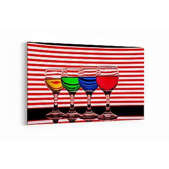 Malerei - Getränke mit Reflexion 3 - 100x70cm