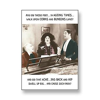 Pigment Rib Ticklers - Ageing Times People Singing - Birthday Card Rt1009a