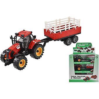 Sul trattore agricolo e sul rimorchio (uno in dotazione)