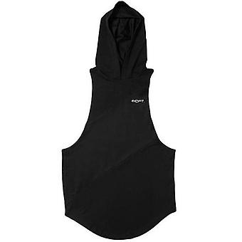 Bodybuilding Muscle Guys Fitness Gym Hooded Tank Top Vest, Stringer Sportswear,