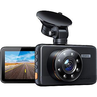 Dash Cam, 1080P FHD Car Camera with 8 IR Lights Superior Night Vision