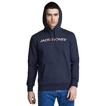 Jack &Jones Mens 2021 viejo logotipo suave algodón mezcla pullover sudadera con capucha