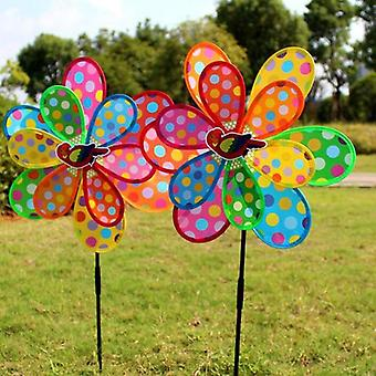 Double Layer Peacock Laser Sequins Windmill  Spinner