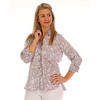 JUST WHITE Just White Pink Grey & White Shirt 43753