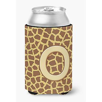 Buchstabe O anfängliche Monogramm - Giraffe-Dose oder Flasche Getränk Isolator Hugger