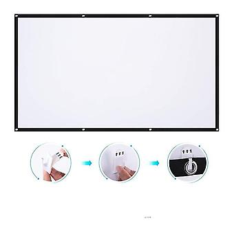 3d Hd Screen 60 / 72 For Led Dlp Projector Beamer Enhance Brightness Home
