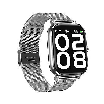 Smart Watch til unisex CCR 1,54 tommer LCD-skærm, Support Bluetooth Call / Pulsmåler / Sleep Monitor / Arterial Pressure Monitoring til Android IOS-Silver