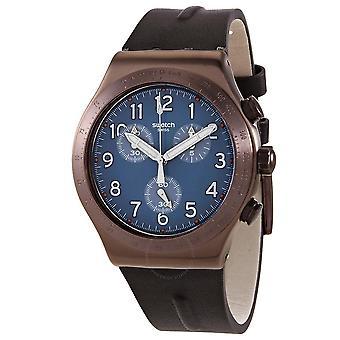 Swatch zurück zu Kupfer Quarz blau Zifferblatt Herrenuhr YVC100