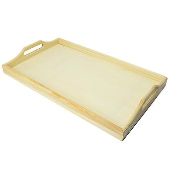 Rectangle Real Wood Tray for Painting & Decorating 39 x 23 X 5cm