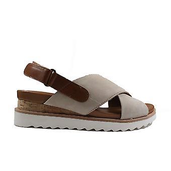 Ara Valencia 28206-09 Sand Nubuck Leather Womens Sling Back Sandals