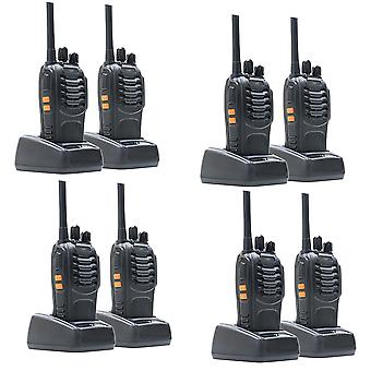 Kit 8 portable radio stations PNI PMR R40 PRO batteries, chargers and headphones included