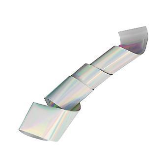 Neglefolie / folie - til negledekorationer - Holo - Sølv - 1m