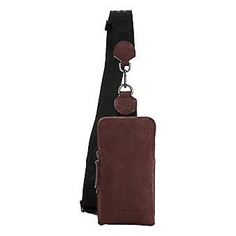 Liebeskind Berlin Suede Lizard Sling, Women's Folder Bag, Merlot-4974, Small