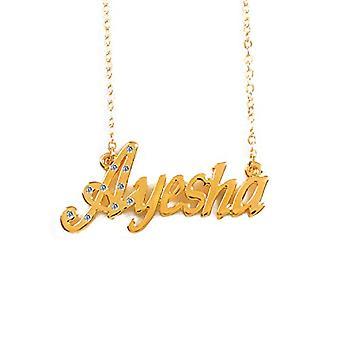 KL Ayesha - 18 karan kullattu kaulakoru, säädettävä ketju 16-19 cm, lahjapakkauksessa