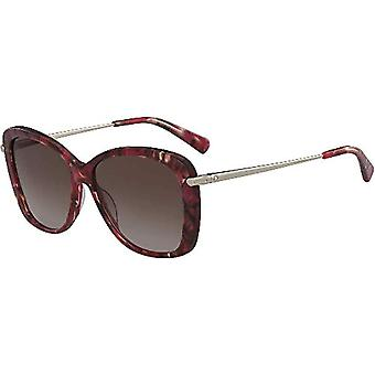 Longchamp LO616S, Acetate Marble Brown Red Unisex Adult, Multicolored, Standard Sunglasses