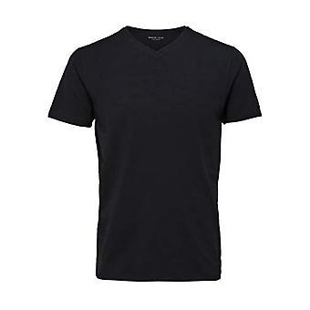 SELECTED HOMME 16073458 T-Shirt, Black (BlackBlack), XX-Large Men