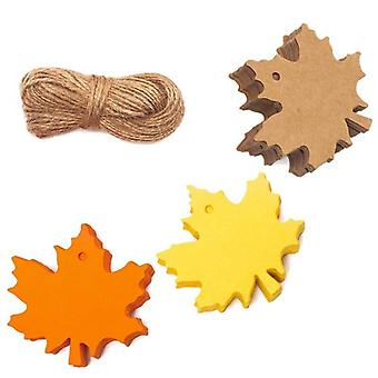 Maple Leaves Favor Paper Tags