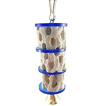 New Parrot Bird Toys Chinchilla Squirrel Mineral Molar Toys Grinding Stone Toys Tree Root ES2183