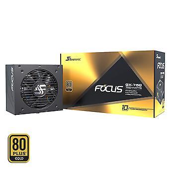 Seasonic Focus GX-750 750W 80+ Gold Modular Power Supply UK Plug