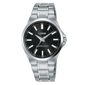 Lorus RG229PX9 Damski zegarek ze stali nierdzewnej z czarną tarczą sunray
