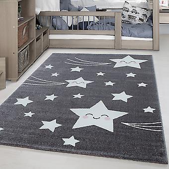 Kinderteppich KID Kinderzimmer Teppich Niedliche Sterne